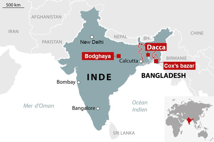carte Inde Bengladesh